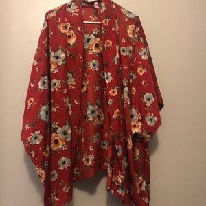 Xhilaration Tops - Plus Size Kimono/Cover